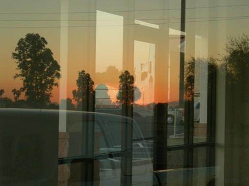 natural glass sunset