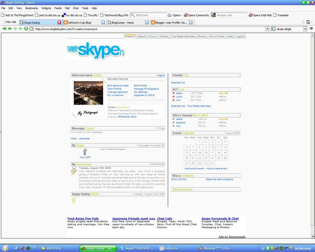 skype dating forum Join me on skype's best free dating site 100% free online dating for join me on skype singles at mingle2com our free personal ads are full of single women and men in join me on skype looking for serious relationships, a little online flirtation, or new friends to go out with.
