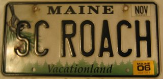Maine license plate SC Roach