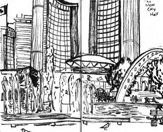 drawing of toronto new city hall