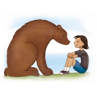 Girl and Bear Illustration by Liz Wong