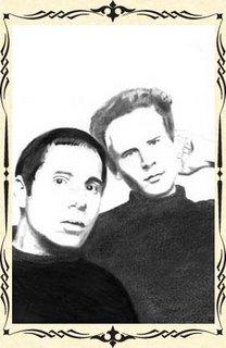 portraits de Simon et Garfunkel