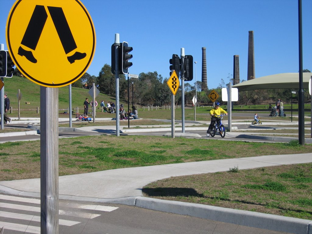 Sydney Daily Photo Childrens Bike Track Sydney Park