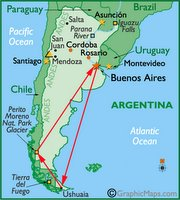 Mapa d'Argentina