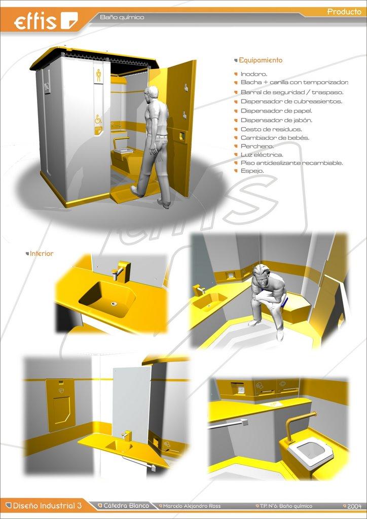 Diseno Baños Quimicos:Marcelo A Ross / Diseño industrial + Gráfico: Diseño Industrial