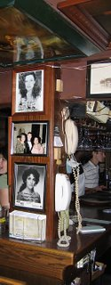 celebrity autographs inside rossino's, st louis mo, photo by toby weiss