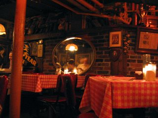 atmosphere of rossino's italian restaurant april 2006 photo by toby weiss