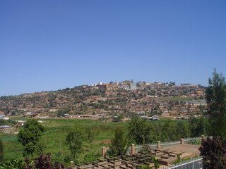 Kigali from the genocide memorial