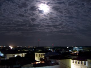 moon over Stone Town