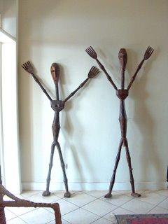 life-sized Rwandan statues