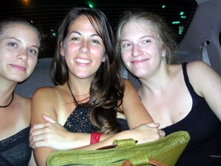 Lindsay, Julie, and Cecily on the way home