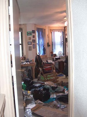 messy room from the doorway
