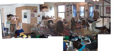 very messy bedroom