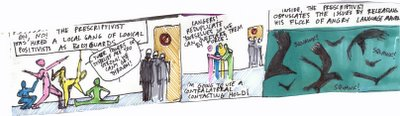 linguistics cartoon, strip four