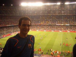 Yo en el Camp Nou