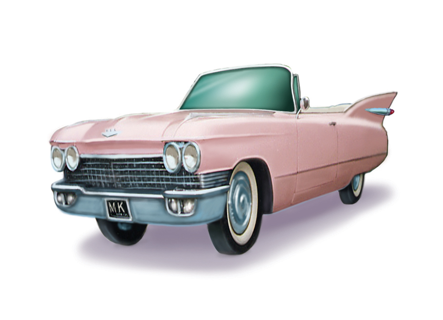 TODD BONITA'S ART BLOG: Pink Caddy spot illustration