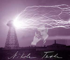 Nicola Tesla with Tesla-Coil