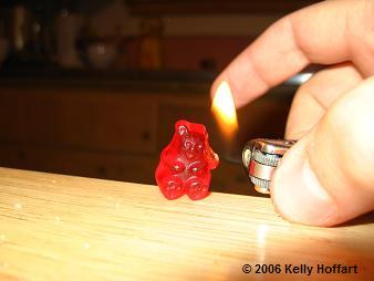 Gummy Bear Persecution by Fire