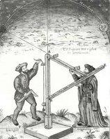 Ptolémée projette les coordonnées terrestres, William Blake