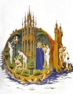 La création Adam et Eve chassés du paradie Chantilly