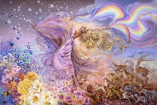 Rainbow girl de Josephine Wall
