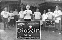 photo of dioxin sign and lonetree gang. click for bigger pic.