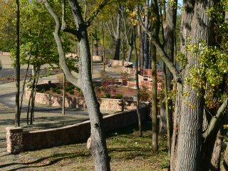 Festival Park - cobblestone walls and handicapped access