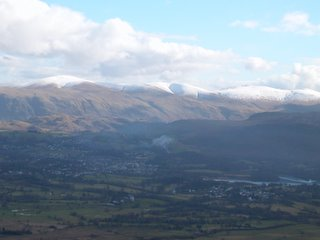 A view across the Lakeland fells