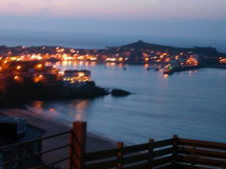 St ives harbour at dusk