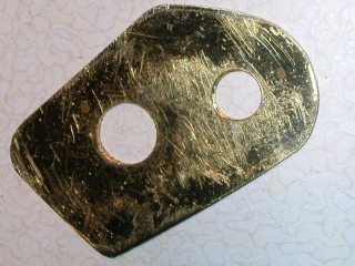 The brass repair plate
