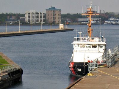 USCGC Katmai Bay at the Soo Locks May 16, 2006