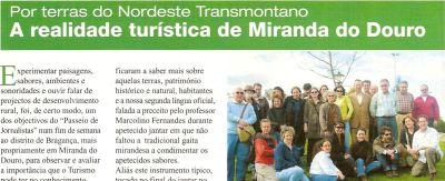 PASSEIO DE JORNALISTAS a Miranda do Douro - Reportagem