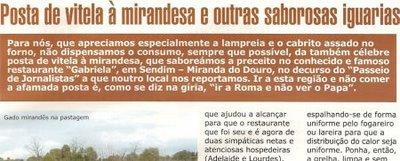 PASSEIO DE JORNALISTAS - À mesa, na Gabriela de Sendim