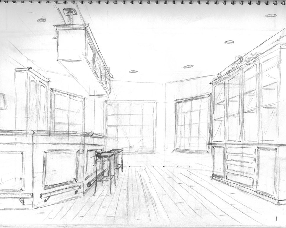 Interior design my perspective drawings life 39 s for Architecture modern house design 2 point perspective view