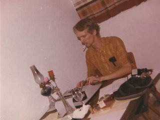 At the typewriter, circa 1979