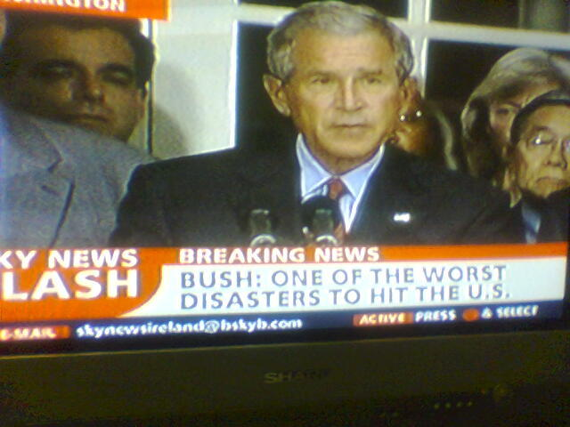 George Bush image on newscast
