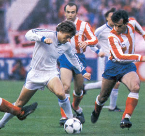 atletico de madrid dinamo 1986