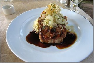 Pork Chop Special with Potato Risotto