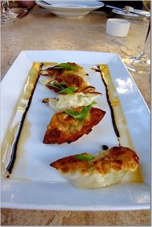CRISPY GINGERED SHRIMP DUMPLINGS with SWEET SOY GLAZE and CHILE OIL