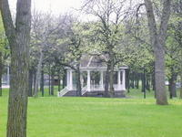 Near this Gazebo, unbeknownst to most, is the burial ground of our furry friends...over the Bridge, but not forgotten...