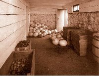 A typical prairie root cellar...
