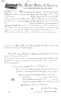 Alexander Gamble's claim (Source:  BLM Archives)