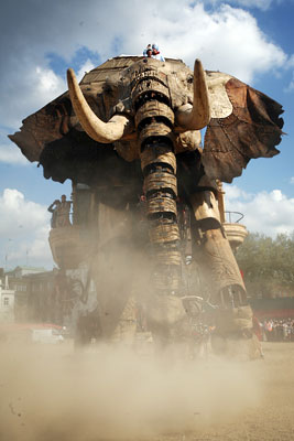 40 Foot elephant roams London today...