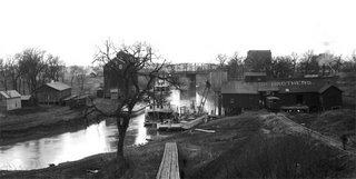 Fargo-Moorhead waterfront in 1887