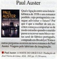 in JL n.º 925, Paul Auster