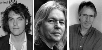 Da esquerda para a direita: Joe Wright, Christopher Hampton e Ian McEwan