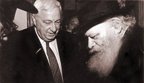 Ariel Sharon with the Rebbe-Almighty