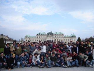 Vista del palacio de Belvedere