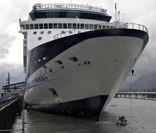 SAILORS MARINERS WARRIORS LEAGUE Cruise Ship Snags Whale Off - Cruise ship whale