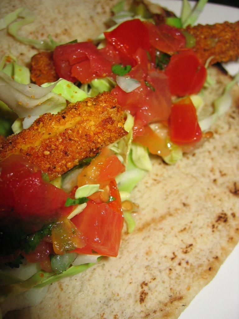 Guinnah baja tofu tacos for Vegan fish tacos